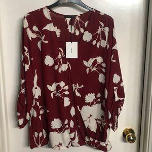 3/4 sleeve dress top